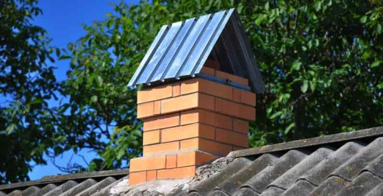 completed chimney repair in Spartanburg
